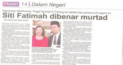Utusan Malaysia, 9 Mei 2008, mukasurat 14.